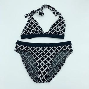 Kenneth Cole Black & Silver Bikini Set